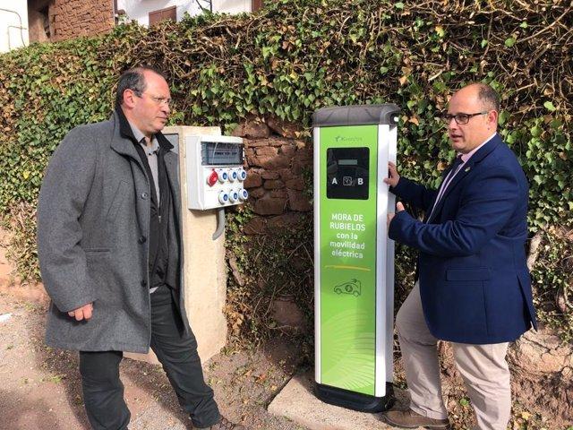El vicepresidente de la Diputación de Teruel, Alberto Izquierdo, ha visitado este viernes la instalación de Mora de Rubielos.