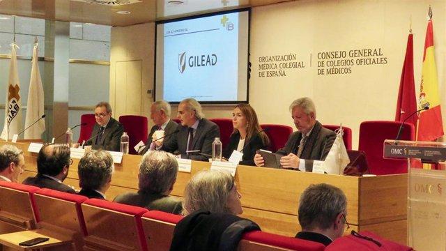 Foto de la mesa inaugural de la jornada de la Fundación Bamberg.