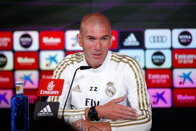 Zinédine Zidane, entrenador del Real Madrid.