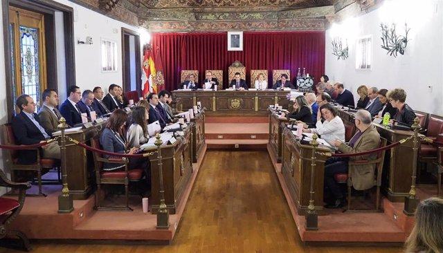 Pleno de la Diputación de Valladolid del viernes 29 de noviembre.
