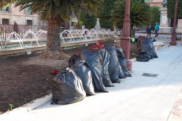 PSOE acusa al PP de gastar miles de euros en flores que pocas semanas después tiran en buen estado a la basura