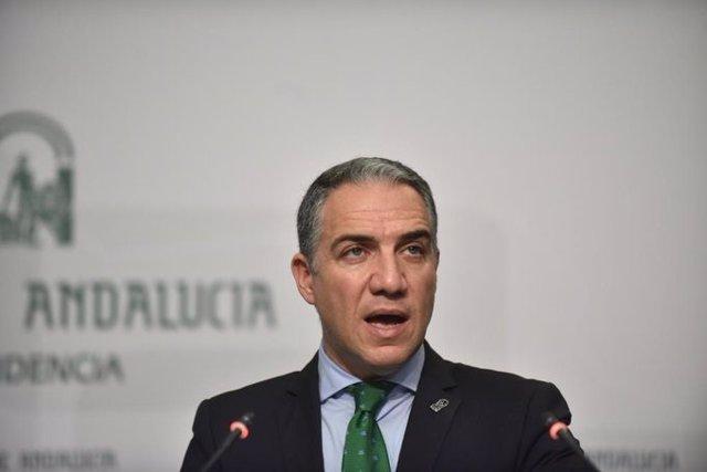 Elías Bendodo, consejero de la Presidencia, Administración Pública e Interior