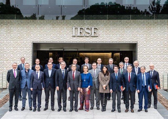 Imagen de la reunión del jurado de los Premios Cesur, este viernes en Madrid.