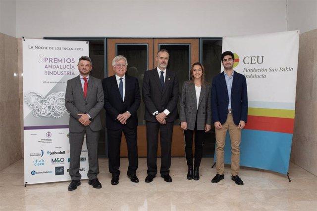 Entrega de los premios del Colegio de Ingenieros Industriales de Andalucía Occidental.