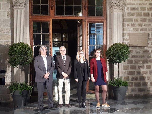 Xavier Marcé, Miquel Puig, Elsa Artadi i Janet Sanz.
