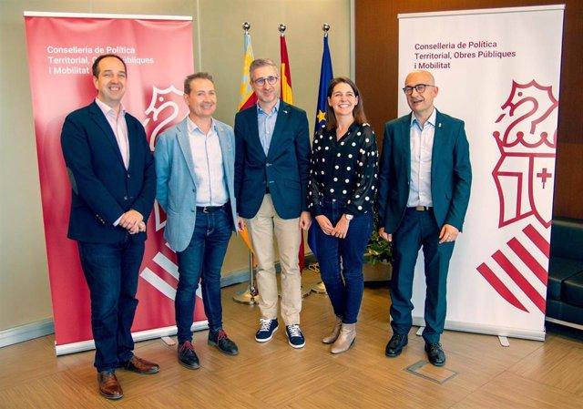 Reunión del conseller España con los alcaldes de Aldaia, Xirivella y Alaquàs