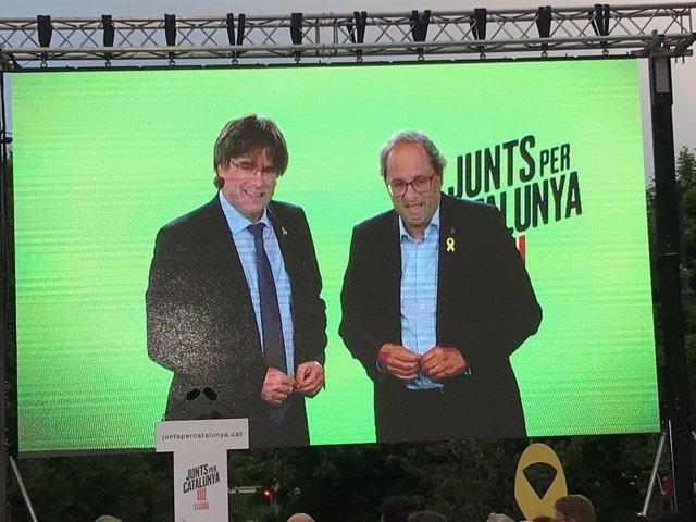Carles Puigdemont i Quim Torra.
