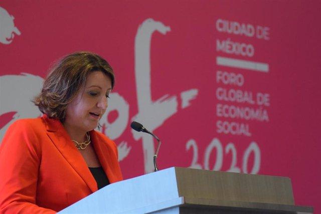 La consejera de Economía, Empresas y Empleo del Gobierno de Castilla-La Mancha, Patricia Franco, en México