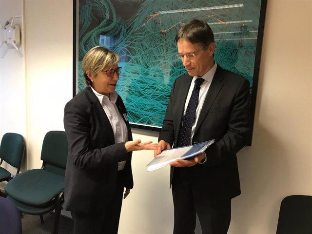 La conselleira do Mar, Rosa Quintana, este viernes en Bruselas