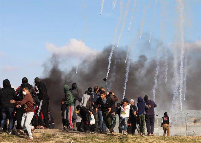 Manifestación en la Franja de Gaza en el marco de la 'Gran Marcha del Retorno'