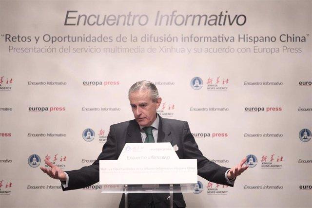 El presidente ejecutivo de Europa Press, Asós Martín de Caviedes, en una imagen de archivo