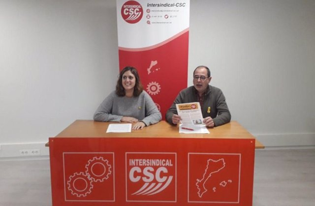 Marina Sureda i Narcís López, Intersindical-CSC.