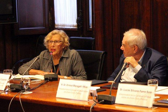 [Grupopoliticacat] Foto: Manuela Carmena A La Comissió D'estudi Dels Drets Civils I Polítics