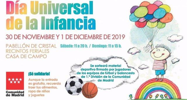 Cartel del evento del Día Universal de la Infancia