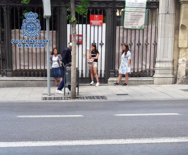 Imagen del 'Clan de las Bosnias' operando en Granada