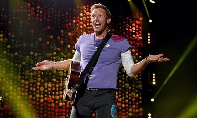 Chris Martin durante un concierto