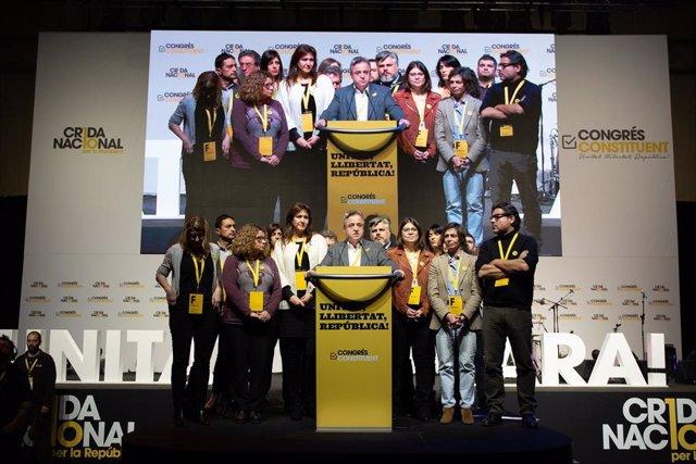 Imagen de archivo con Toni Morral clausurando del congreso de la Crida Nacional per la República