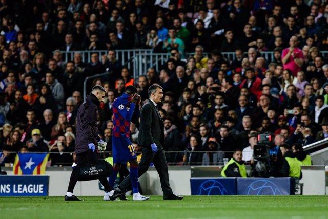 Fútbol.- Dembélé estará 10 semanas de baja por su tercera lesión de la temporada