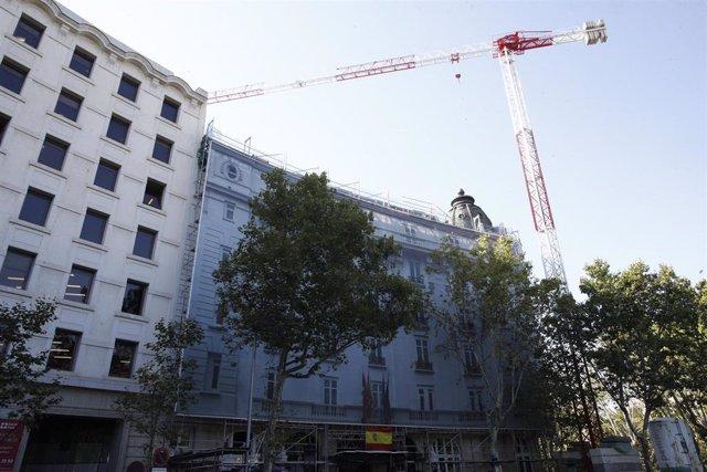 Estado del hotel Ritz de Madrid tras el derrumbe del martes