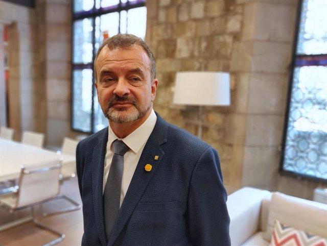 El conseller de Acción Exterior, Relaciones Institucionales y Transparencia de la Generalitat, Alfred Bosch, en una imagen de achivo