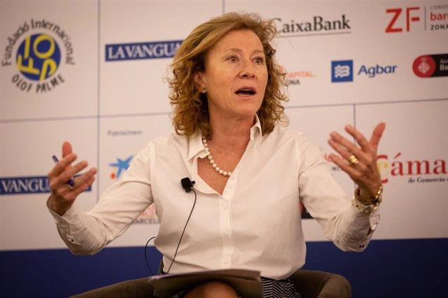 La subgobernadora del Banco de España, Margarita Delgado, interviene en el XXIV Encuentro de Economía de S'Agaró (Girona) a 29 de noviembre de 2019.