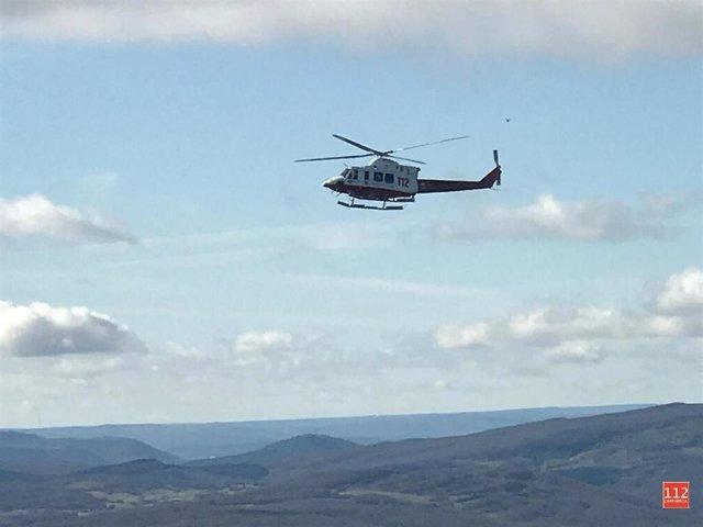Helicóptero busca al vecino de Igollo desaparecido en Valderredible