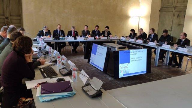 El cap del Govern andorrà, Xavier Espot, ha presidit la reunió del Comitè de Pilotatge de l'acord internacional entre Andorra i França de millora dels accessos rodats.