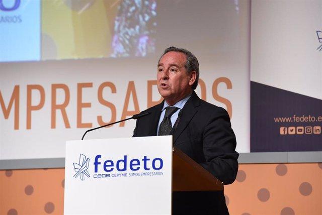 El presidente de Fedeto, Ángel Nicolás, en los premios Fedeto