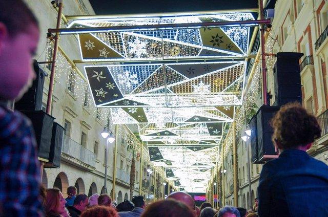 Encendido del alumbrado navideño en Huelva