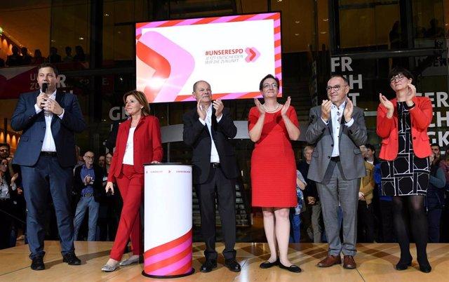 Los candidatos a liderar el Partido Social Demócrata de Alemania.