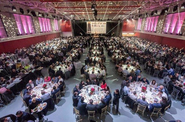 Gala de entrega de los premios 'Porc d'orc' donde una granja de Alesanco obtuvo dos estatuillas
