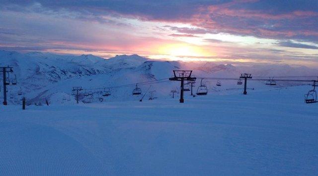 Estación de esquí de Valgrande-Pajares, en Lena.