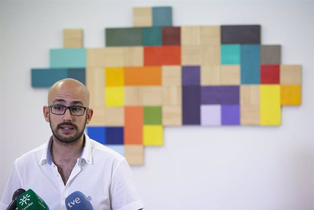 El responsable de la Secretaría Política y de Comunicación de Podemos Andalucía, Pablo Pérez Ganfornina, en una foto de archivo