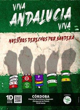Cartel de la manifestación 'Por una Andalucía Viva' del 1 de diciembre en Córdoba