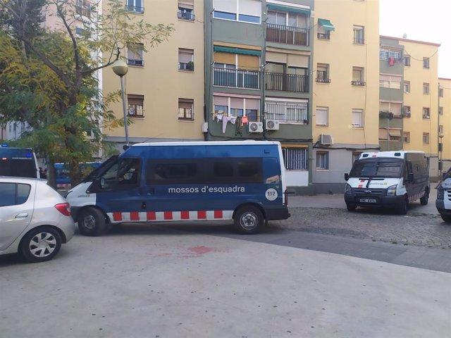 Operatiu dels Mossos d'Esquadra contra el tràfic de drogues i armes a Badalona (Barcelona) el 29 de novembre del 2019.