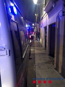 Operació antidroga dels Mossos d'Esquadra, la Guàrdia Urbana de Barcelona i la Policia Nacional la matinada del 30 de novembre del 2019 al districte de Ciutat Vella de Barcelona.