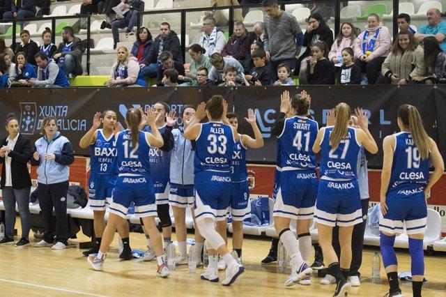 Jugadoras del Baxi Ferrol en un partido