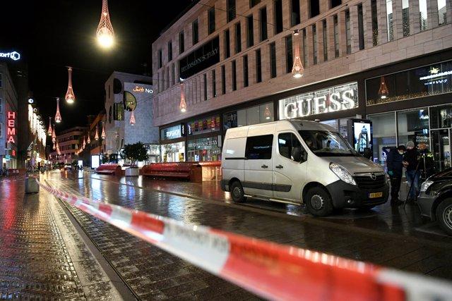 Foto del lugar donde se ha producido el ataque en La Haya