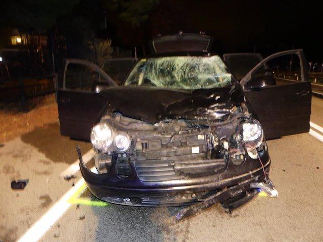 Estat del vehicle que ha impactat amb la motocicleta.