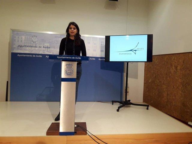 La concejala de Hacienda del Ayuntamiento de Avilés, Raquel Ruiz.
