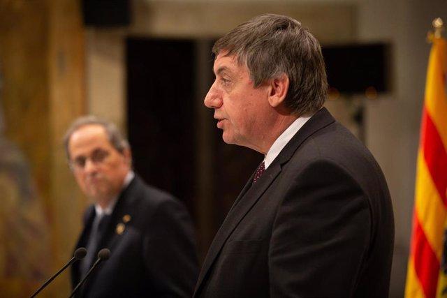 Comparecencia del presidente de Flandes, Jan Jambon, y el presidente de la Generalitat, Quim Torra.