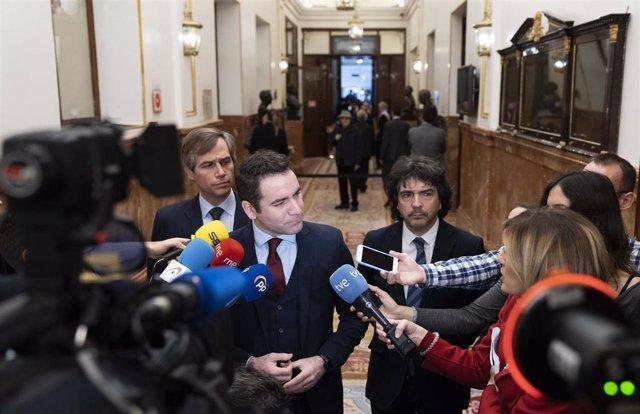 El secretario general del PP, Teodoro García Egea, en la Jornada de Puertas Abiertas del Congreso de los Diputados.