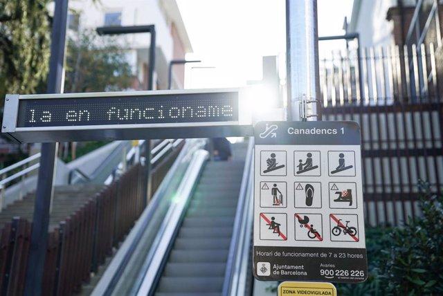 Les noves escales mecàniques al barri de la Teixonera (Barcelona).