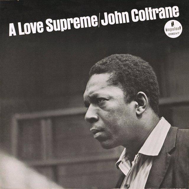 Portada del disco 'A love supreme' de John Coltrane.