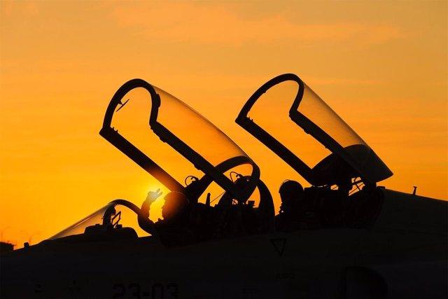 Instantánea ganadora del premio nacional de Fotografía Aeronáutica