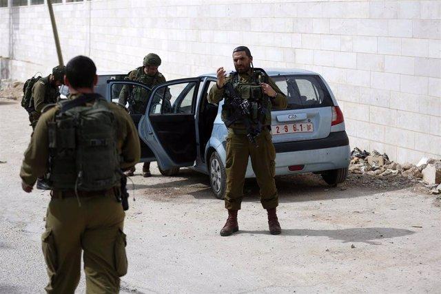 Fuerzas de seguridad israelíes en Cisjordania