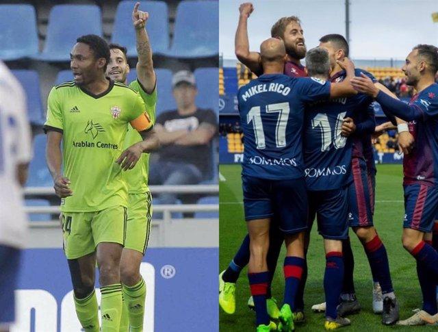 Almería y Huesca vencen a domicilio