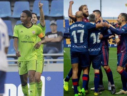 El Almería y el Huesca se acercan al Cádiz tras ganar a domicilio