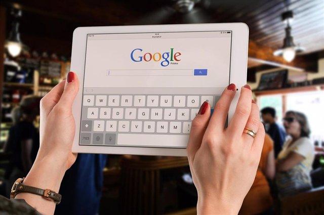 Buscador de Google en una tableta