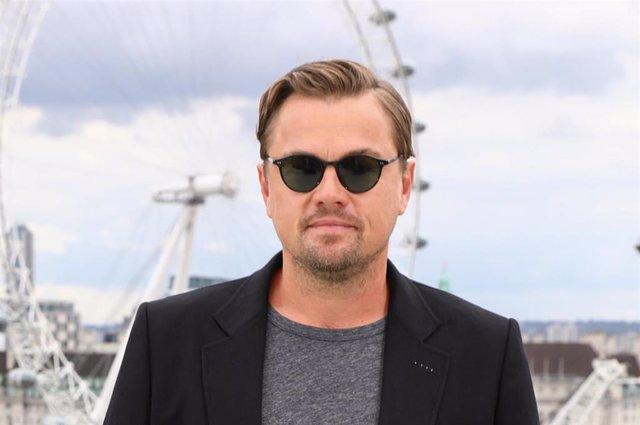 Leonardio DiCaprio en la premiere de Londres de 'Érase una vez en... Hollywood'